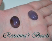 Blue Agate Oval Cabochon- Set of 2