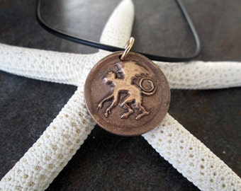 Flying Monkey Bronze Pendant Wizard of Ox Jewelry Made to Order