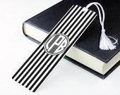 Personalised Bookmark - Metal Book Mark Page - Stripe P16