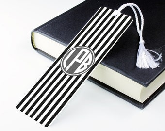 Stripe Print Bookmark – personalised metal bookmark - personalized unique bookmark - literary gift - teacher gift - book lover gift - p16