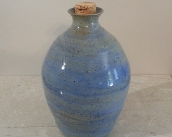 READY TO SHIP - Pottery Cremation Urn - Wheel Thrown Clay - Funerary Cremains Jar For Family Member or Pet Ashes - Hearth - Up to 38lb