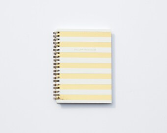 Follow Your Bliss Notebook - Horizontal Stripe