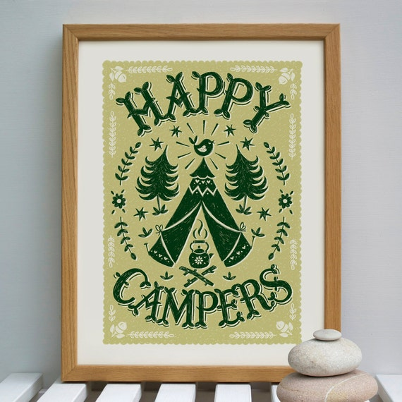 Happy Campers Camping Print