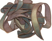 Sassy Silks Hand Dyed/Painted Ribbons Meadows