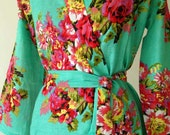 3 Bridesmaids robe set - Floral robes for bridal party, wedding robes, perfect gift for bridesmaids and Maid of Honour