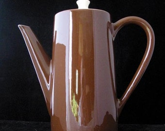 Royal China (USA) Brown Coffee Pot with Lid Vintage 1960s