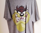 Taz Looney Tunes Henley T-Shirt Size Large 1990s