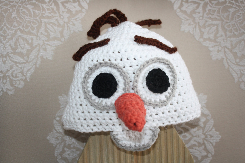 Frozen S Olaf Snowman Hat Easy Crochet Pdf Pattern