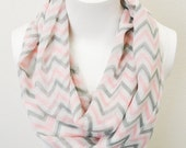 Valentines day special FREE Shpping Infinity chevron color - chevron print scarf - Super Fun  - Gift Under 10
