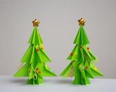 Two Christmas Trees - Gift Origami set