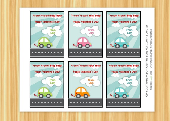 Cute car valentine s day card for kids valentine s day classroom