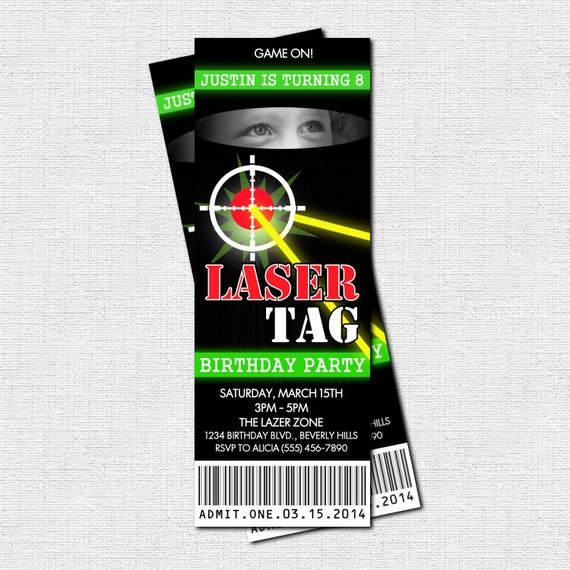 It's just a picture of Punchy Laser Tag Invitations Free Printable