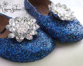 RHINESTONE FLOWER Shoe Clips for WEDDINGS; Large Design; Beautiful for any Occasion; Very Colorful; Fast Shipping!