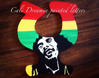 Bob marley hand painted letter