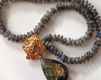 From the Vault Gorgeous Labradorite Pendant Necklace