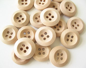 """16 wood buttons 18mm 11/16"""""""