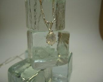 Pear Cut Moonstone Necklace in Sterling Silver