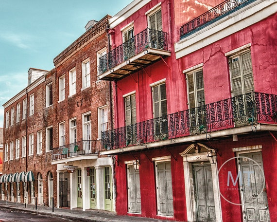 Fine Art Photo, Colorful Buildings on Royal Street in the French Quarter in New Orleans