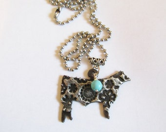 FFA 4H Show Steer stockshow soldered jewelry pendant necklace