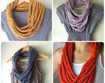Chain Scarf Necklace .. Made to Order .. Eternity Scarf .. Infinity Scarf .. Circle Scarf .. Crochet Chain .. Crochet Scarf .. Fashion Trend