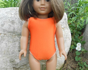 Orange Bathing Suit for American Girl Doll and 18 inch dolls