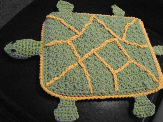 funda ipad crochet tortuga