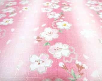SALE Japanese Traditional Fabric Stripe Cherry Blossom SAKURA Pink FQ