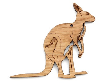 Kangaroo Ornament - Timber Green Woods Zoology Collection