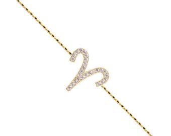 Pave Aries Bracelet-Rose Gold