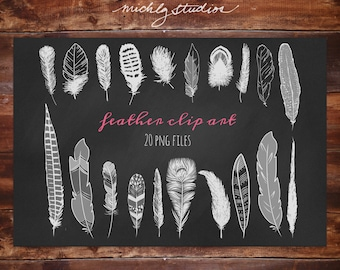 20 PNG Feather graphics/ digital clip art