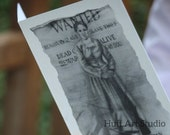 Harriet Tubman Wanted Poster Card by Earnestine Huff