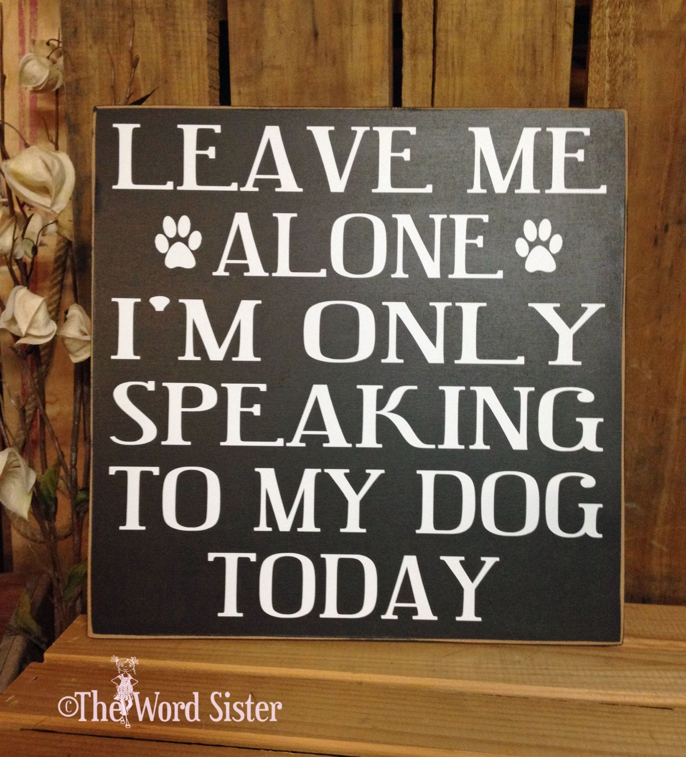 Wood Dog Decor Signs About Dogs Leave Me Alone I 39 M