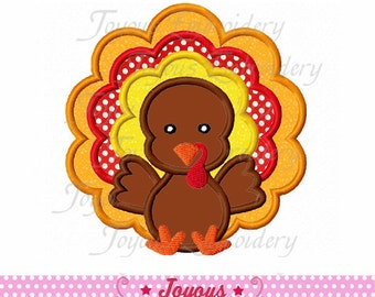 Instant Download Thanksgiving Baby Turkey  Applique Embroidery Design NO:1565