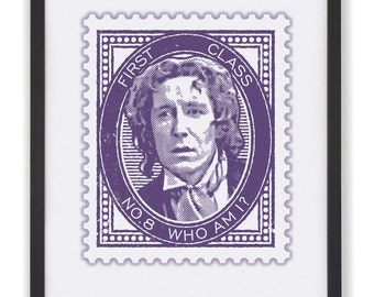 No.8 Who Am I? - 50 x 40cm Doctor Who Stamp Print
