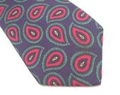 Vintage Paisley Tie Silk Foulard Mens Fashion Accessories