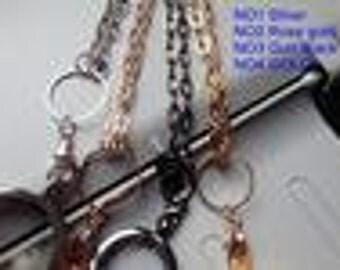 "24"" long Stainless Steel Gun metal chain"
