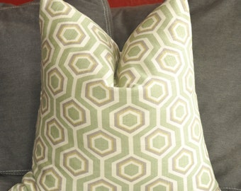 Pillow Cover, Decorative Pillow, Throw Pillow, Toss Pillow, Sage Green, Honeycomb, Geometric, Home Furnishing, Home Decor, Pillow Case