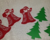 Christmas Tree and Santa Paper Cut-outs