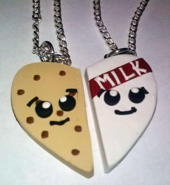 Latte e biscotti migliori amiche del cuore pendente besties for Disegni di due migliori amiche
