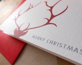 Christmas Note Card : Antlers