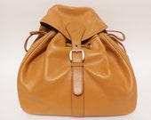 Gucci / Vintage  Backpack  / Light Brown  Leather / 100% authentic