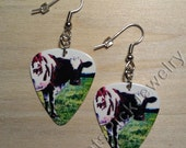 Boucles d'oreilles Pink Floyd Atom Heart Mother Guitar Pick