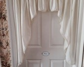 Vintage Crochet Edge Swag Curtain Made by Country Curtains  RESERVED FOR LISA
