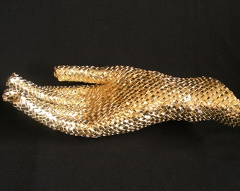 Midas Touch  *Bias Plaited Gold Foiled Paper Sculpture