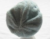 Beanie Hat - Slouchy Hat - Glacier - Unisex - Womens Med/Large - Mens Small/Medium
