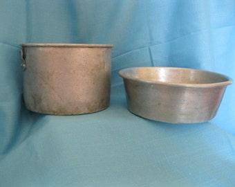 Old aluminum pan  no. 161   Worth