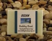 Gift for men, men's soap, Ocean scented handcrafted soap, handmade vegan soap, favorite man's scent, sustainable palm oil, moisturizing
