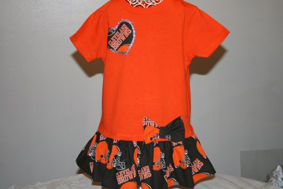 Baby Girls 4T CLEVELAND BROWNS Tshirt Dress Childrens Clothes