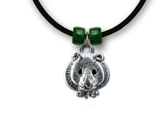 Pewter Hamster Necklace