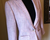 Anne Klein, jacket, women, size 8, business ,casual, linen look, spring, summer,pastel Easter, classic, tailored